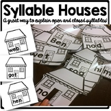 Open and Closed Syllable Review Houses
