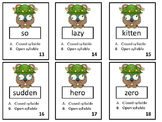 Open and Closed Syllable Hunt