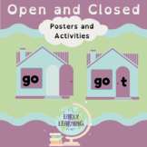 Open and Closed Syllable Posters and Activities