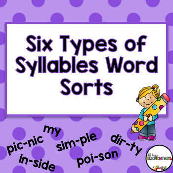 Six Types of Syllables Word Sorts