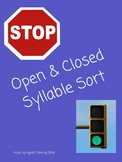 Closed & Open Syllable Sort (Stop & Go)