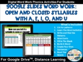 Open and Closed Syllable Two Week Mini Unit - Distance Lea