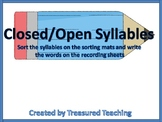 Closed and Open Syllable Word Sort Literacy Center Activity