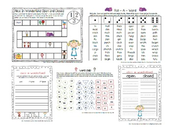 Open and Closed Syllable Word Work Bundle