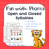 Open and Closed Syllables Worksheets - Fun with Phonics!