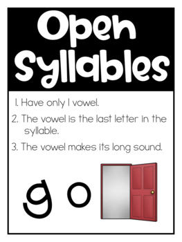 Open and Closed Syllables Activities - Orton Gillingham - Phonics