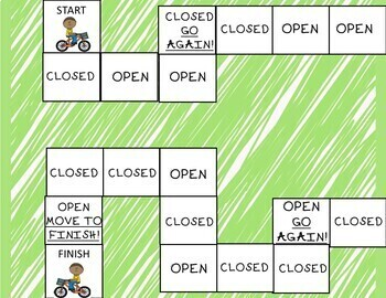 Open and Closed Syllables Board Game
