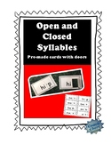 Open and Closed Syllables Cards