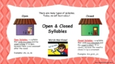 Open and Closed Syllables Interactive Google Slides Mini L
