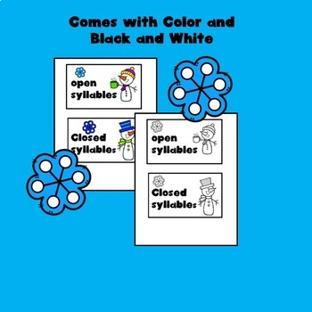 Open and Closed Syllables for Winter