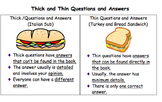 Open and Closed (Thick and Thin) Questions Powerpoint