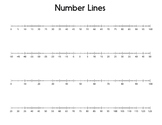 Open and Fixed Number Lines