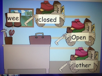Open and close syllable sort with y flipchart