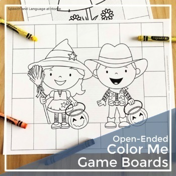 Open-ended Color Me Game Boards