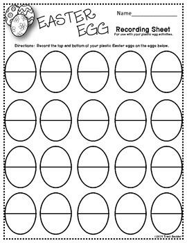 Open-ended Easter Egg Recording Sheet {Freebie}