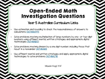 Open-ended Math Investigations