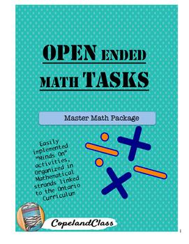 """Open ended """"Minds On"""" Math Tasks"""