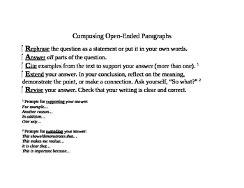 Writing Open-ended Responses