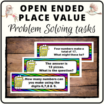 Place Value math question activity