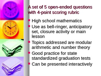 Open-ended questions algebra number theory and patterns