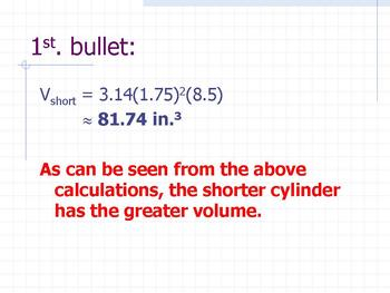 Open-ended questions geometry comparing volume and surface area of cylinders