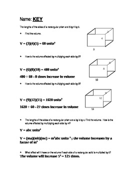 Open-ended questions geometry volume