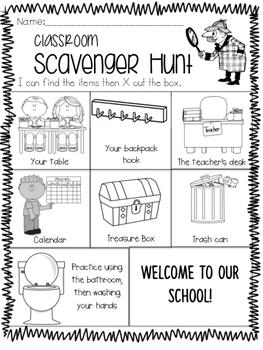 Open house/ Meet the teacher night hunt
