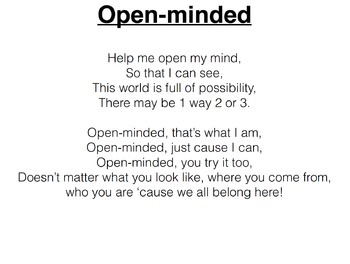 Open-minded Song