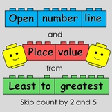 Open number line and Place value from Least to greatest /