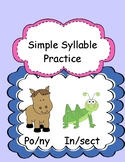 Syllable Practice for Two-Syllable Words