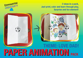 Open paper craft animation - Dad's Love