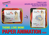 Open paper craft animation - Mom's Love