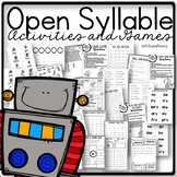 Open syllable o,e, and y phonics centers and activities