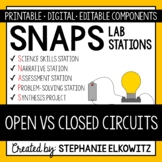 Open vs. Closed Circuits Lab Stations Activity