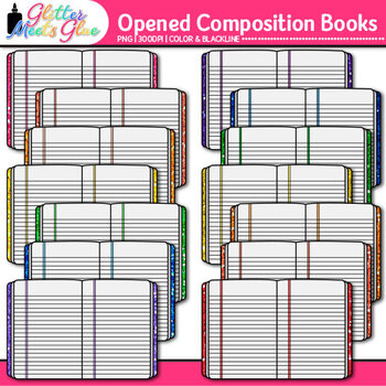 Composition Notebook Clip Art {Back to School Supplies Gra