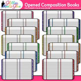 Composition Notebook Clip Art | Back to School Supplies Graphics for Journals 3