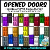 Opened Doors Clip Art for Personal and Commercial Use