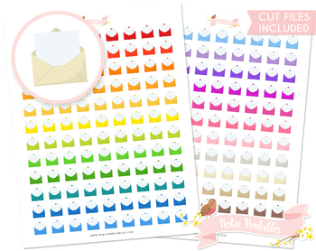 Opened Envelope Printable Planner Stickers