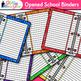Binder Clip Art {Rainbow Glitter Back to School Supplies f