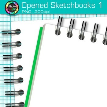 Opened Sketchbook Clip Art 1 - Art Supplies Clip Art - Drawing Book Clip Art