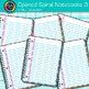 Opened Spiral Notebook Clip Art {Back to School Supplies for Writing Resource} 3