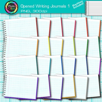 Opened Writing Journal Clip Art 1 - Writing Journal Prompt