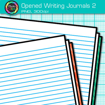 Opened Writing Journal Clip Art {Back to School Supplies for ELA Resources} 2