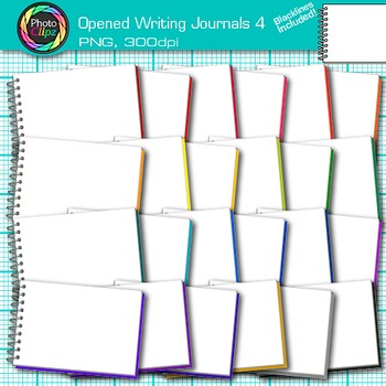 Opened Writing Journal Clip Art {Back to School Supplies for ELA Resources} 4