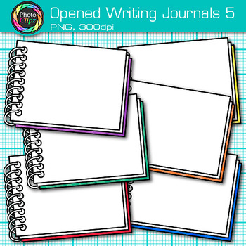 Opened Writing Journal Clip Art {Back to School Supplies for ELA Resources} 5