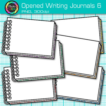 Opened Writing Journal Clip Art {Back to School Supplies for ELA Resources} 6