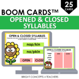 Opened and Closed Syllables BOOM CARDS / Digital Task Cards