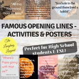 Opening Lines From Novels - Posters