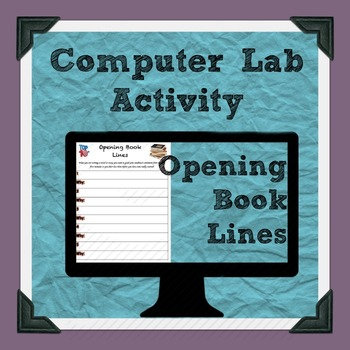 Opening Books Lines Computer Lab Activity