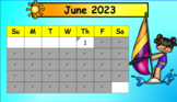 SmartBoard Daily Calendar for Kindergarten for the Year (Interactive)